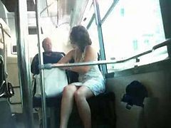 Bus, French, Upskirt, Xhamster.com