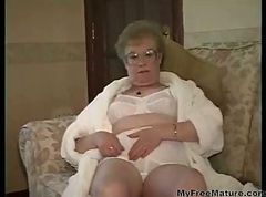 Granny, Dress, Cumshot, Gotporn.com
